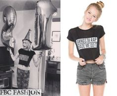 Frances Bean Cobain wears Brandy Melville Carolina Gangsta Rap Made t-shirt in the color Black during her 21st Birthday.