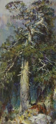 Russian Master: Vasendin Yury http://www.russianfineart.com/catalog/prod.php?productid=25123  Old Pine Tree - oil, canvas: