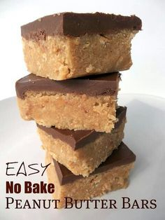 No bake peanut butter bars....