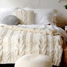 Cable Knit Bedding   This Would Be Awesome Cause Iu0027m Too Fat To Look Good  In A Sweater:) | For The Home | Pinterest | Cable Knitting, Cable And Cozy