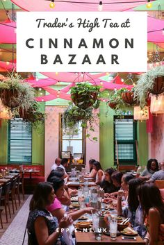 Trader's High Tea at Cinnamon Bazaar, a casual cool London restaurant inspired by an Indian marketplace