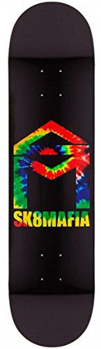 SKATE MAFIA Skateboard Deck HOUSE LOGO TIE DYE 7.75 SK8 MAFIA - http://shop.dailyskatetube.com/product/skate-mafia-skateboard-deck-house-logo-tie-dye-7-75-sk8-mafia/ -  Up to date, in reduce, 7-Ply maple Sk8 Mafia Skateboard Deck   -