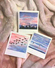 some watercolour polaroids ive drawn today :-) ufokoala Easy Canvas Art, Small Canvas Art, Mini Canvas Art, Mini Tela, Aesthetic Painting, Pastel Art, Painting & Drawing, Drawing S, Drawing Ideas