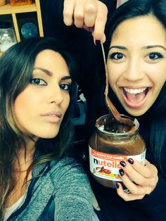 """Jo from Desi Rascals shows off to Rita about what it means to be """"sweeter than Nutella""""."""