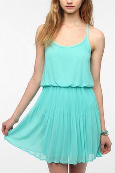 Pins And Needles Chiffon Mini Pleat Dress