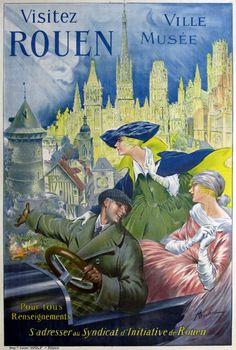 Bonnet, Visitez Rouen, c. 1910 http://www.pinterest.com/adisavoiaditrev/