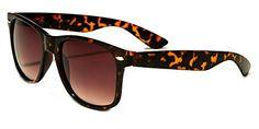 Wayfarer Sunglasses Classic 80′s Vintage Style Design (Tortoise Brown)