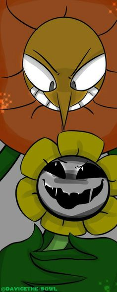 CUP HEAD BOSS AND FLOWEY