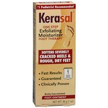 Exfoliating Moisturizer Foot Ointment.. this stuff works Im tellin ya!  get it at walmart . put it on your calloused nurse feet..