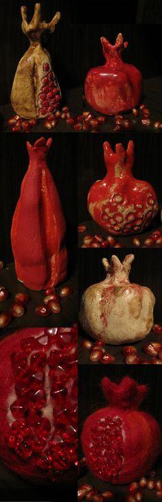 Всегда хотелось изваять гранат. Меня восхищают его увесистые плоды и сочные, стекловидные зерна. В Песне Песней Соломона гранат фигурирует как символ любви и…