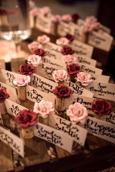 Dazzle your wedding guests with these gorgeous rose & wine cork Place Card Holders! Available in 30 custom colors to match your color palette perfectly. Wine Cork Wedding, Beach Wedding Favors, Rustic Wedding, Wedding Souvenir, Wedding Guest Table, Seating Chart Wedding, Wedding Reception, Wedding Ideas, Wedding Places