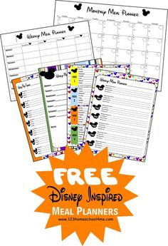 Repinned: Free Disney-Inspired Printable Menu Planners