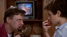 Rick Ducommun and Cory Danziger in The Burbs 1989 The 'burbs, The 100, Corey Feldman, The Munsters, Desperate Housewives, My Wife Is, Carrie Fisher, Tom Hanks, Stanley Kubrick