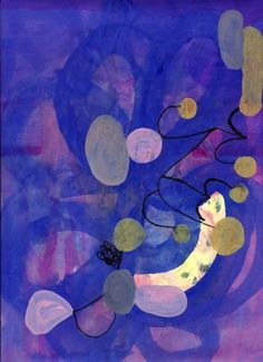Possible inspiration for my next piece? Like the colors and the softer shapes than my last one. Art by Anna Kunz