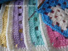 Desde o tempo da vovó...: Brincando com as cores - Colcha em Granny Squares (W.I.P)
