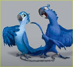 Custom XLarge Full Color Blu Jewel Parrot Rio 2 Birthday Party Banner