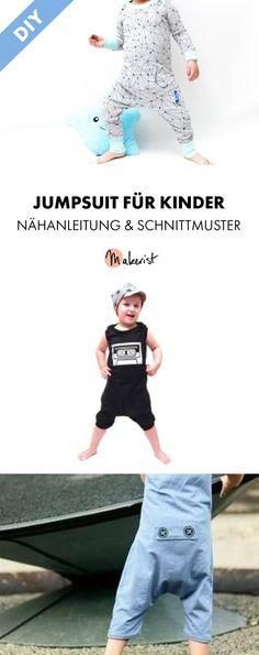 Jumpsuit für Kinder selbermachen - Nähanleitung und Schnittmuster via Makerist.de