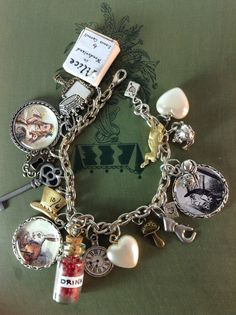 Alice In Wonderland Charm Bracelet by BeadazzledBySharon on Etsy, $60.00