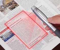 Document Scanner Pen April 4, 2013 - 1 Comments Writing down notes just became obsolete now that the document scanner pen has entered into the equation. This highly portable gadget employs a precision lens to capture whatever is visually placed within its laser parameters to provide the highest quality scan possible. Combine this with evernote = awesome.