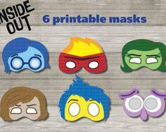 Unique Inside Out Printable Masks mask photo por AmazingPartyShop
