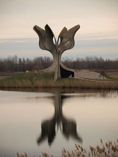 Monument to Jasenovac concentration camp.