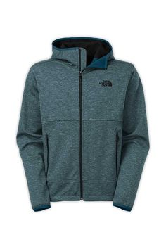 The North Face Men's Canyonwall Hoodie. Drastically reduce the windchill factor at the crag with a wind-resistant, heavyweight WindWall® fleece hoodie that's finished with a gridded fleece backing and durable enough to wear bouldering or belaying. DWR (durable water repellent finish) repels light moisture. #EscapeOutdoors #TheNorthFace #Men #Canyonwall #Hoodie