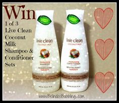 Live Clean's New Coconut Milk Moisturizing Shampoo & Conditioner