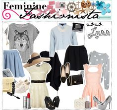 """""""feminine Fashionista"""" by the-polyvore-tips ❤ liked on Polyvore"""