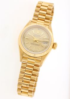 Rolex Lady's Yellow Gold Datejust Wristwatch Ref 69178 | From a unique collection of vintage wrist watches at http://www.1stdibs.com/jewelry/watches/wrist-watches/