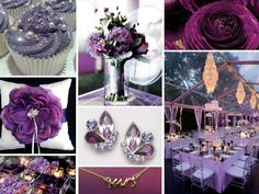 Purple Gray Wedding Theme