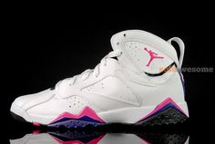 Air Jordan 7 GS White Purple Pink