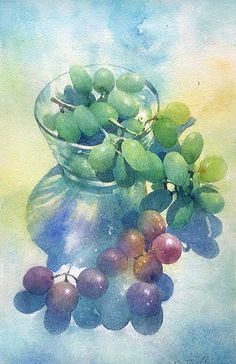 grapes watercolor