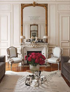 Loving the architectural details in this Parisian apartment of Lancel executive Thuy Tranthi Rieder and her family - Traditional Home® / Photo: Francis Hammond / Design: Eric Lysdahl Home, Chic Home Decor, Parisian Decor, House Design, Traditional House, Parisian Interior, Paris Decor, Paris Apartments, Apartment Decor