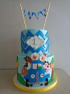 The Little Blue Truck themed cake