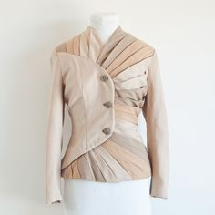 Today I Like... Pleated Fawn Jacket from Bess Georgette