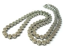 8mm 83.8cm Iced Out Hip Hop Cluster Chain Necklace in Silver-Tone XC241R  Price…