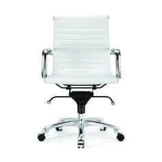 Century White Modern Classic Aluminum Office Chair (Set of Industrial Office Chairs, Office Chair Cushion, Desk Chair, Drafting Chair, Conference Room Chairs, Best Office Chair, Office Furniture Stores, Ergonomic Chair, Mid Century Modern Furniture