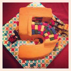 Boys 5 year old Lego cake!