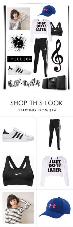 """""""1MILLION Dance Studio"""" by polkadots22 on Polyvore featuring adidas, NIKE, GABALNARA and Under Armour"""