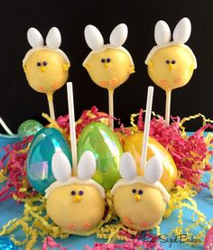 Easter Chick, Bunnies? - Darling little cookie pops (tutorial)
