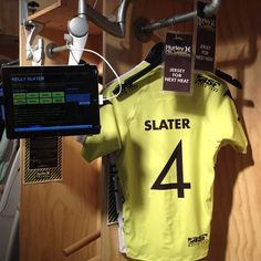 Kelly Slaters locker. He is on way out into another final again. - @progenexusa- #progenex #thesauce #crossfitprogenex #hurleypro #surfing #kellyslater