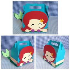 Lindas caixinhas de guloseimas. Ariel Tema: Princesas da Disney. #tokdajuju #personalizados #festam - tokdajuju