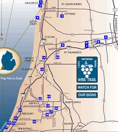 Looking for wineries in West Michigan? Use this Wine Guide map to ...