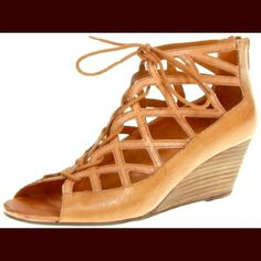 Steve Madden Nittella Leather Wedge Sandal-Size 8 I don't think I ever actually wore these out, they've just been sitting in my closet! brown Steve Madden low wedge sandals. Comfy and easy to put on- there's a little zipper by the heel. Let me know if you have any questions! Thanks :) Steve Madden Shoes Wedges