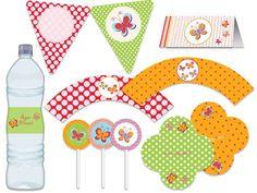 Festa Borboleta - aniverários - chá de bebê - noivado azul, amarelo, vermelho, verde, laranja, rosa, pink, turqueza Tuty - Arte & Mimos www.tuty.com.br