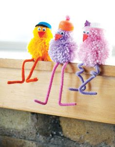 1000 images about pompons on pinterest animales pom - Manualidades con pompones ...