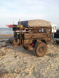 Badass Off Road Trailer Designs and Pictures 25 - Awesome Indoor & Outdoor Jeep Camping, Off Road Camping, Camping Survival, Camping Hacks, Off Road Camper Trailer, Trailer Build, Camper Trailers, Expedition Trailer, Overland Trailer