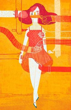 illustration and letters against gender violence Satirical Illustrations, Sad Art, Feminist Art, Human Trafficking, Mellow Yellow, Artist Art, Art Inspo, Art Drawings, Street Art