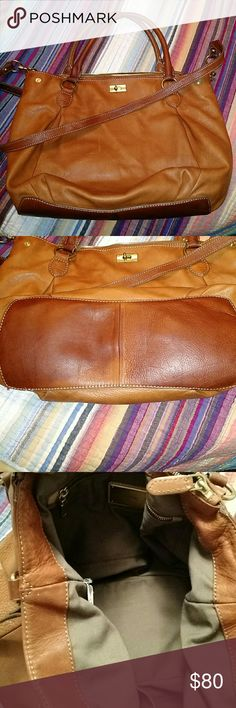 J Crew Brampton LARGE leather Hobo Crossbody This bag is great condition for being 4 years old! Tons of pockets inside. Interior is in great condition. J. Crew Bags Crossbody Bags