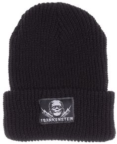 ec989c6ea4d UNIVERSAL MONSTERS FRANKENSTEIN BEANIE Take it up a notch with this basic black  beanie